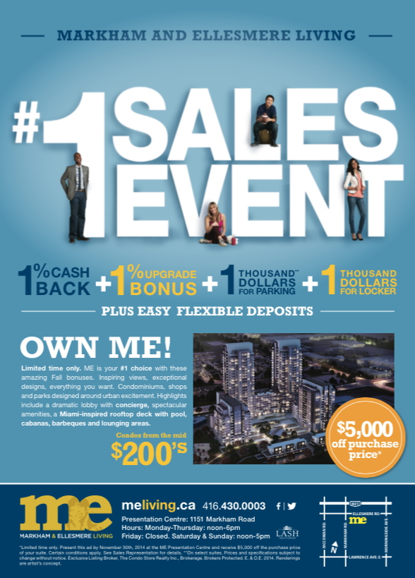 #1 Sales Event ME Living Condos